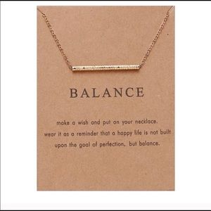 "Jewelry - Gold ""Balance"" necklace"